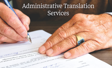 Administrative Translation Services